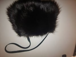 PURSE-Fur And Suede Muff/Purse – Black