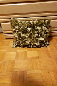 Pretty olive green Feather accent pillow Toronto, M9N 1K9