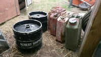 2 kegs 70 each and antique fuel tanks 40 each  Mississauga, L5B 1G9