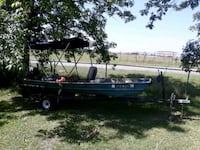 boat with outboard and trailer  Macon