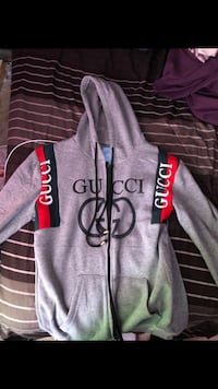 Gucci Gray and black zip-up hoodie Bowie, 20721