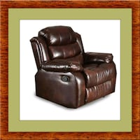 Burgundy recliner chair free delivery Alexandria, 22305