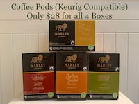 Coffee Pods (Keurig) Marley Coffee (Lot of 4 Boxes)