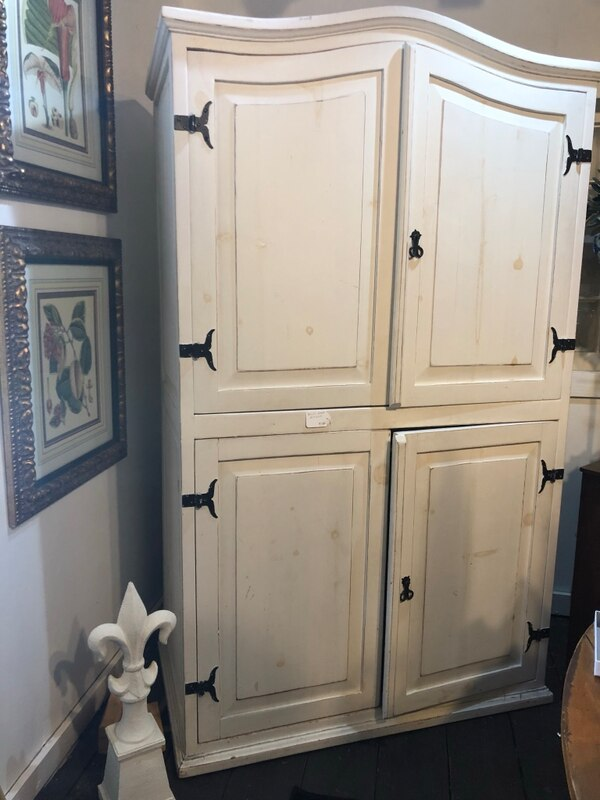 White Wood Armoire 5ee47236-046f-4e54-a45f-a117776f7250