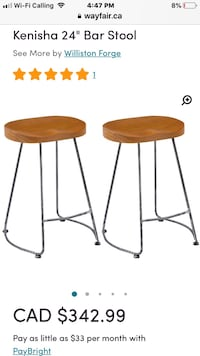 Two bar stools in the package