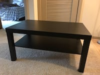 rectangular black wooden coffee table Gaithersburg, 20878