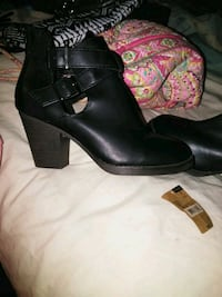 BNWT Black Leather Ankle Boots Westville, 08093