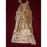 Sequins gold and white  Medium dress  Los Angeles, 91607