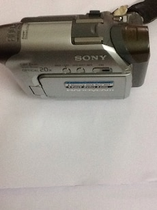 gray and black Sony Handycam