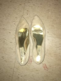 pair of gray leather pointed-toe flats Toronto, M6S 1M8