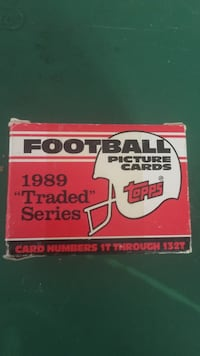 topps football picture cards 1989 traded series