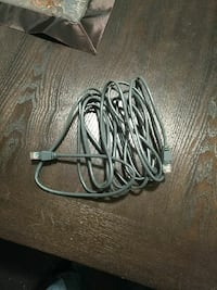 gray coated wire