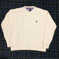 Vintage 90s Tommy Hilfiger Cable Knit Sweater Size M Gatineau, J8T 5T1