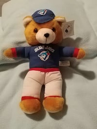 "Blue Jays plush bear...12"" Vaughan"