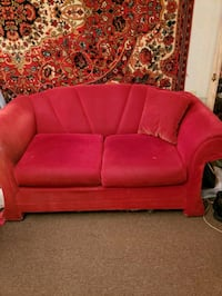 red fabric 2-seat sofa Fox Point, 53217