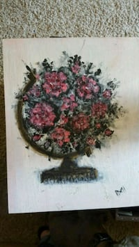 red flower centerpiece painting