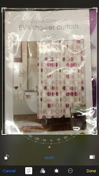 Brand new sealed package shower curtain . Cypress collection 70X72. Comes with free shower rod in white Nanaimo, V9T 2N6