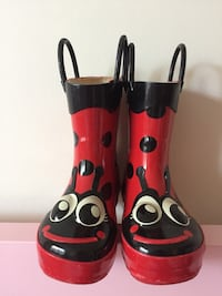 Rain boots girls Lady bag , size 7