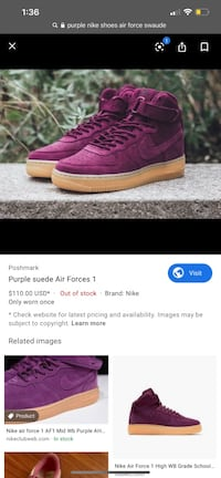 NIKE AIR FORCE 1s HIGH TOP Pickering, L1V 6S1