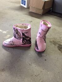 pair of pink-and-white boots Lloydminster