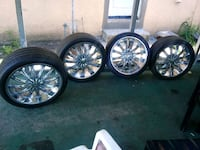 20in rims with tires. Borghini wheels