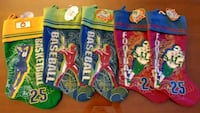 christmas stockings brand new with tag on. 3 $ each or 12 for all 5