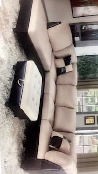 black and white fabric sofa North Highlands, 95660