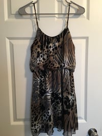 black and gray leopard print sleeveless dress Shafter, 93263