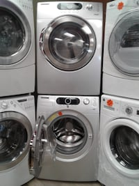 white front-load washer and dryer set null