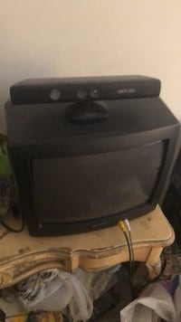 black CRT TV with remote New York, 11235