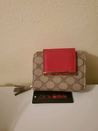 Ladies brown and red wallet