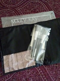 black Mary Kay makeup brush set with pack