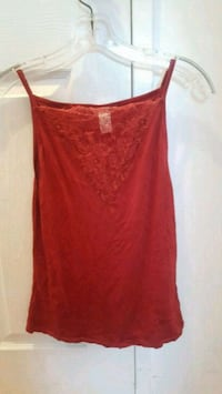 H&M red top with mesh 729 km