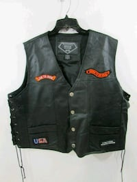 3X Diamond plate leather motorcycle jacket Chicago, 60644