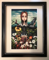 "Angelina wrona 18x22"" framed art with glass. Brand new comes in package. Pick up in mission Cedar valley connecter and Hwy 7 .  Mission, V2V 1C5"