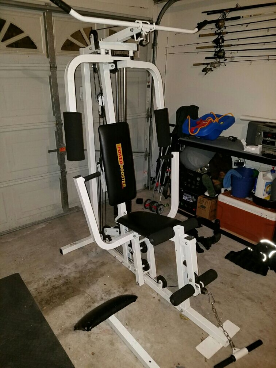 used impex fitness power booster home gym in jacksonville. Black Bedroom Furniture Sets. Home Design Ideas
