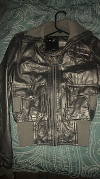 Grey leather jacket Farmers Branch, 75234