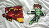 Flash and Green Lantern Bead art Toronto, M1B 1E1