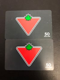 50 dollar Canadian tire gift cards  Toronto, M6P 1A3
