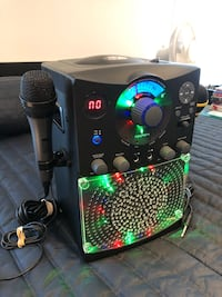 Karaoke singing machine set with two microphone.  Richmond Hill