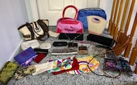 28 bags, wallets, clutches, etc..all in excellent condition 250 mi