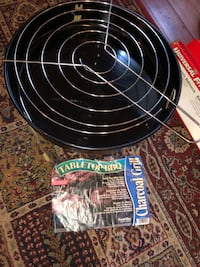 Grilling Set - Rotisserie, Barbecue Sheets, Table Top Charcoal Grill