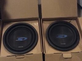 "2) 10"" Alpine S-series subwoofers SWS-10230 2 ohms **sold as is**"