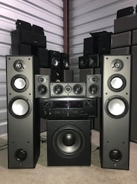 Complete Yamaha 5.1 home theater with 10 inch powered sub and denon receiver with hdmi Allen, 75013