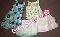 toddler's two white and green dresses Laredo, 78041