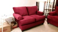 red fabric 2-seat sofa Upper Marlboro, 20774