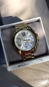 Round gold michael kors chronograph watch with link bracelet Spartanburg, 29303