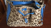 Beautiful Michael Kors satchel tan with blue leather trim ,  in great shape!! Windham, 03087