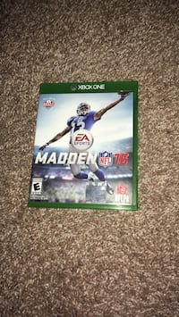 Madden NFL 16 Xbox One game case Eagle, 83616