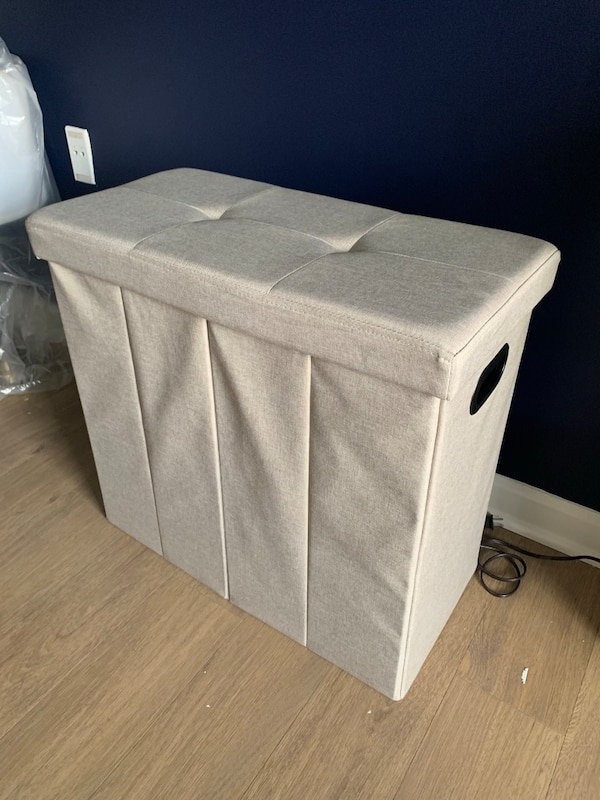 Storage ottoman, bench, and/or hamper